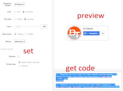 Widget Lencana Google+