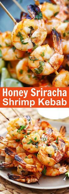 Honey Sriracha Shrimp Kebab Recipe
