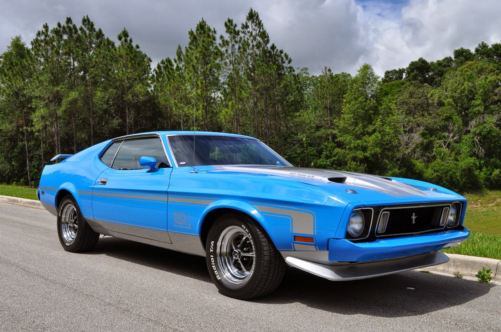 1973 ford mustang mach 1 q code for sale american muscle cars. Black Bedroom Furniture Sets. Home Design Ideas