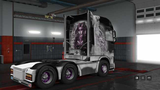 GamesMods17 : Daf Euro6 Skullgirl ETS2