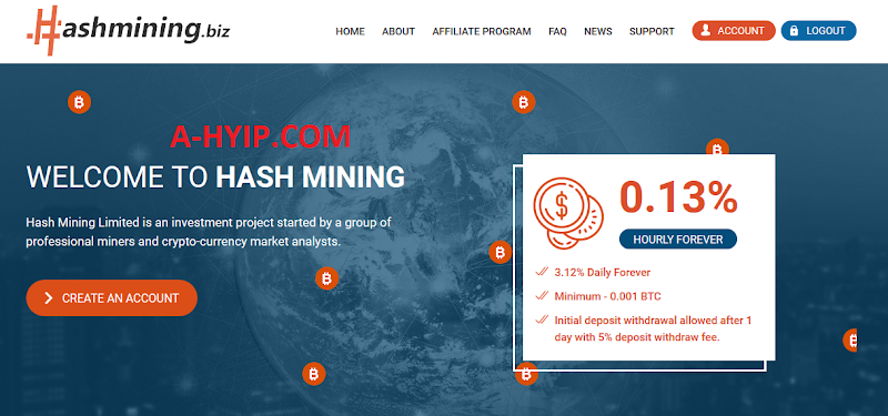 SCAM - Hashmining - 3.12% Daily
