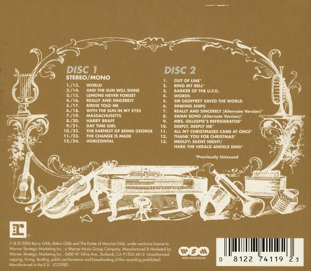 Cd LP Bee gees-Horizontal  2 Jewel