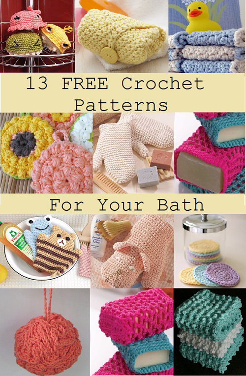 Free Crochet Patterns For Your Bath