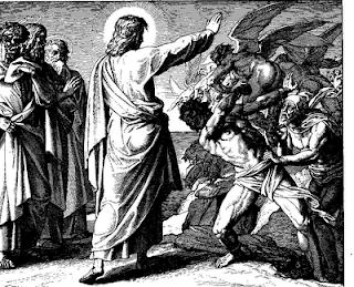 Jesús exorcizando demonios