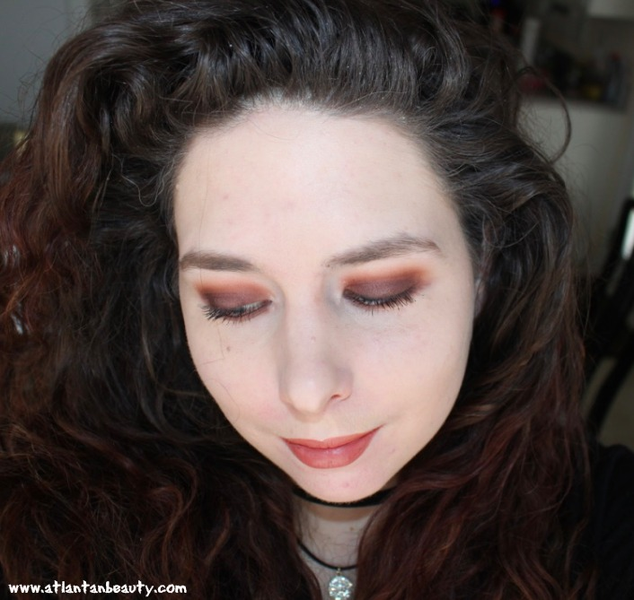 Peach and Purple Makeup