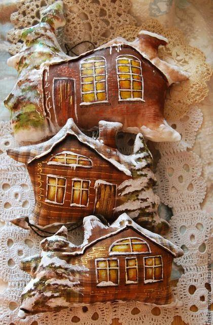 domki zawieszki choinkowe