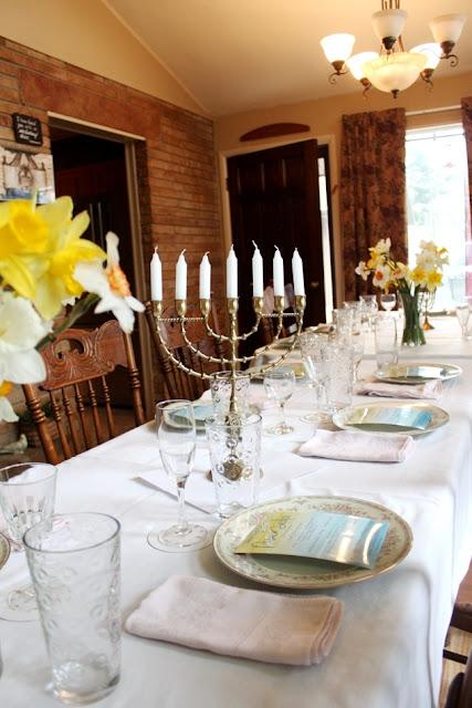 A Watercolor Daffodil Seder   Land of Honey