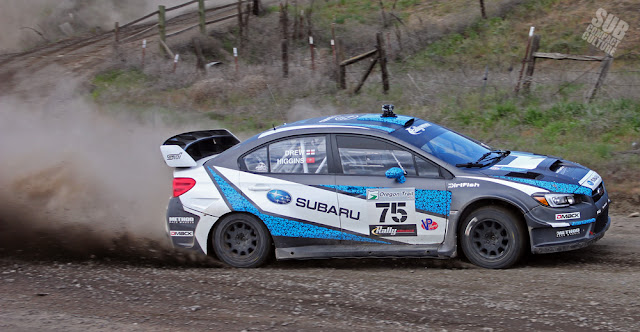 David Higgin's Oregon Trail Rally Winning WRX STI
