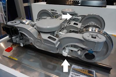 東京メトロ1000形用操舵台車の小型模型
