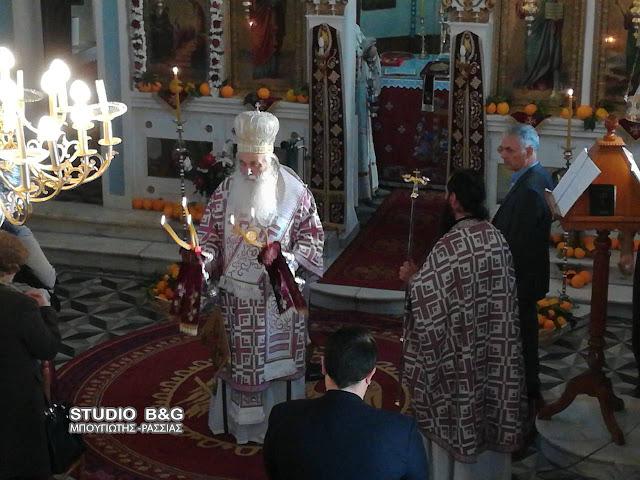 Αρχιερατική Θεία Λειτουργία στη Νέα Τίρυνθα για την εορτή των Εσοδειών της Θεοτόκου