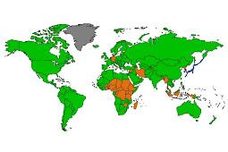 世界各国ブラウザ使用率