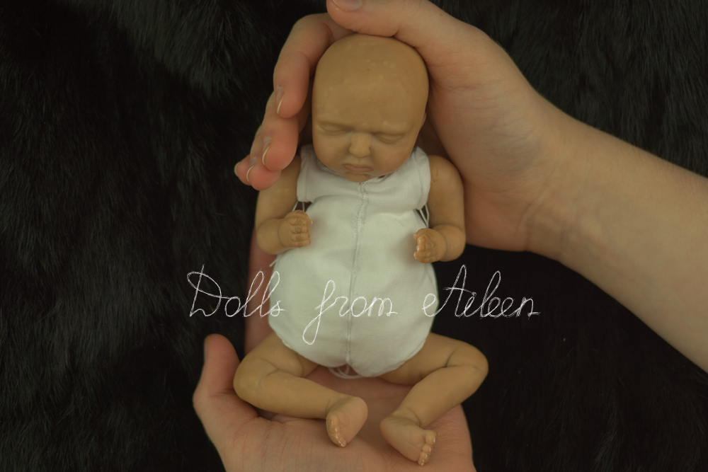 OOAK hand sculpted mini Indian baby girl doll
