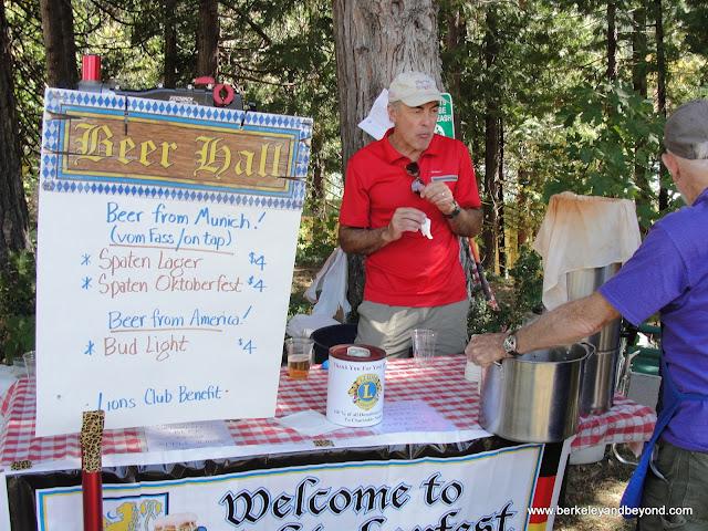 beer hall bar at Oktoberfest Festival in Sierra City, California