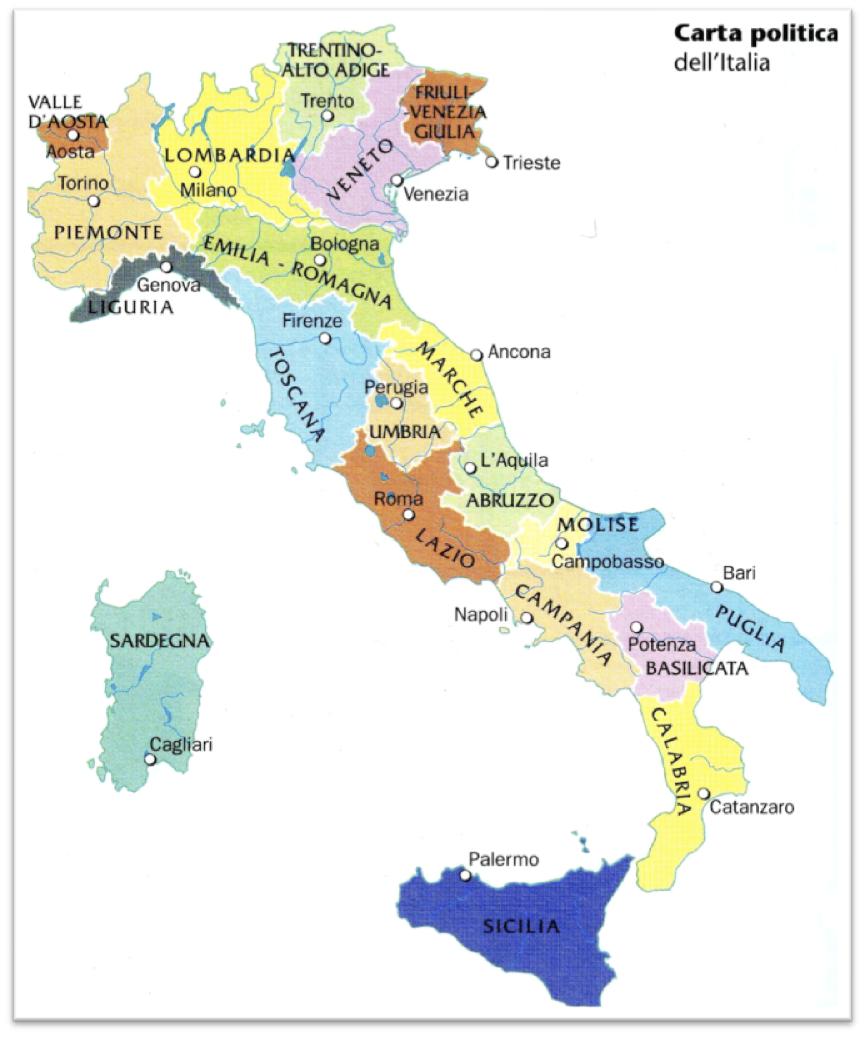 Cartina Politica Italia 1860.Torino Cartina Politica