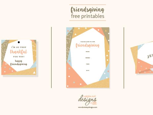 Friendsgiving Free Printables