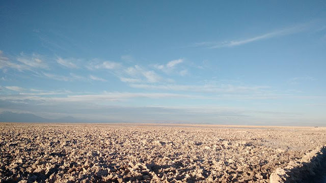 nothing but the bluest skies and miles and miles of empty space- Atacama desert