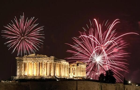 New Year at The Acropolis  Athens, Greece