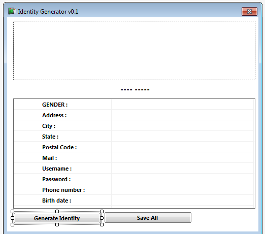 Identity Generator Source Code