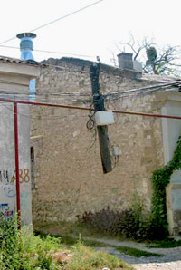 Висящий столб на Краснознаменной в Симферополе