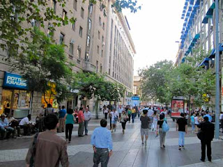 Pedestrian Shopping Walkways Santiago Chile