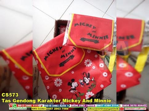 jual Tas Gendong Karakter Mickey And Minnie