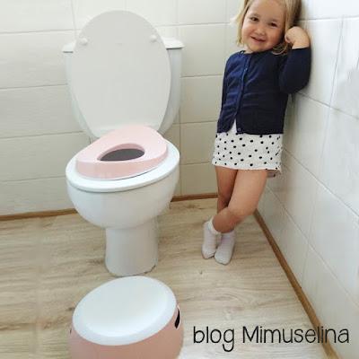 consejos para quitar el pañal a los bebés, reductor de baño, trucos blog mimuselina