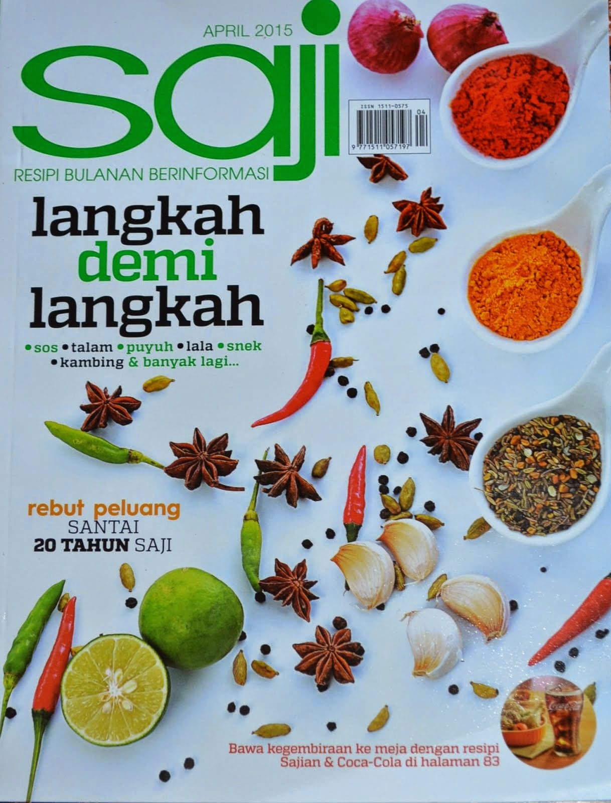 RESEPI AMIE'S LITTLE KITCHEN DI MAJALAH SAJI EDISI APRIL 2015