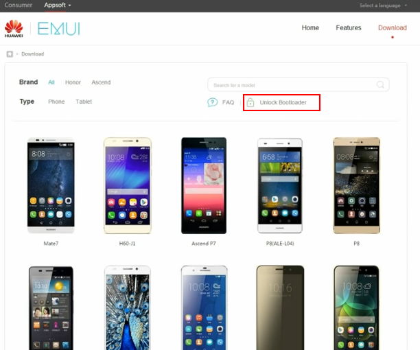 Huawei Bootloader Unlock Link