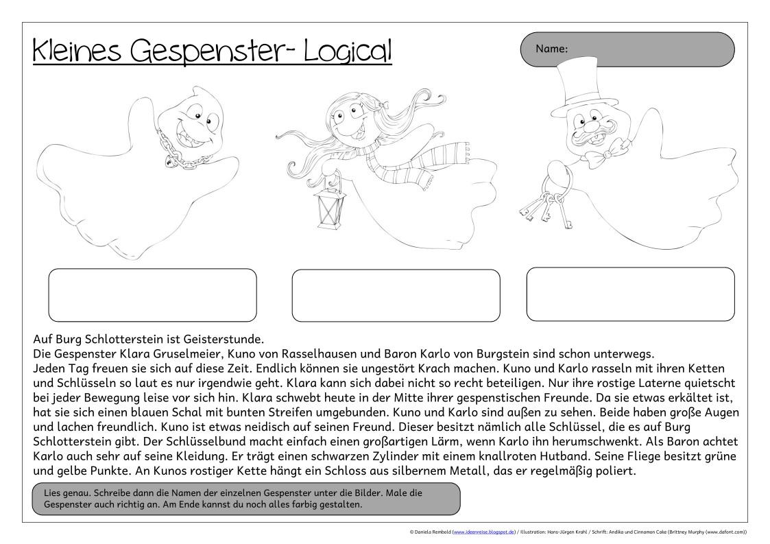 Gemütlich 4. Klasse Halloween Arbeitsblätter Bilder - Malvorlagen ...