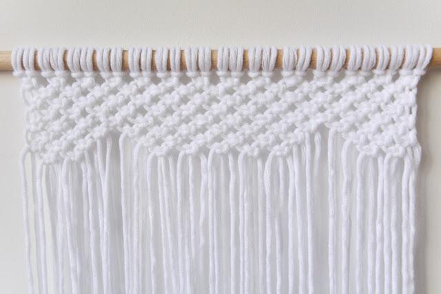 Fila 8 del tapiz de macramé