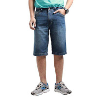 Alfacart Short Pants Wiskers Mid 2nd Red Denim ANDHIMIND