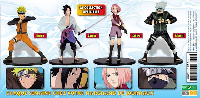 Nouvelle collection de figurines Naruto Shippuden avec Altaya - les premières figurines: l'équipe 7