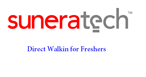 Sunera Technologies Walkin for Freshers | Profile: Trainee Software Engineer on 24th & 25th March 2018