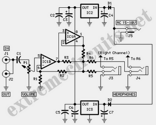 Modular Headphone Amplifier Circuit