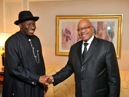 President Zuma of South Africa over xenophobic attacks appeals to Nigeria's President Goodluck Jonathan
