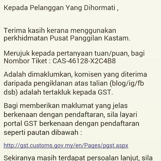 Komisen Pengiklanan Online Kena GST