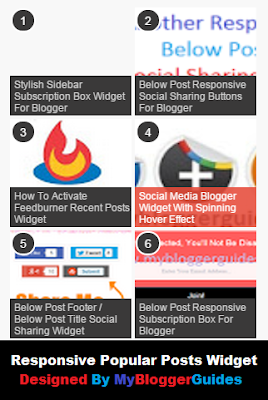 Stylish Popular Post Widget for Blogger Blog