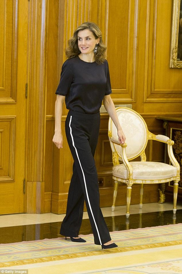 Royals fashion audiences au palais de la zarzuela madrid - Madrid chic style ...