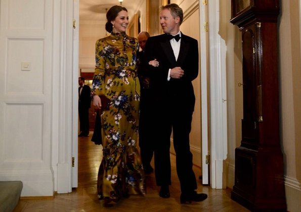 Kate Middleton wore Erdem Stephanie Gown. Crown Princess Victoria and Prince Daniel