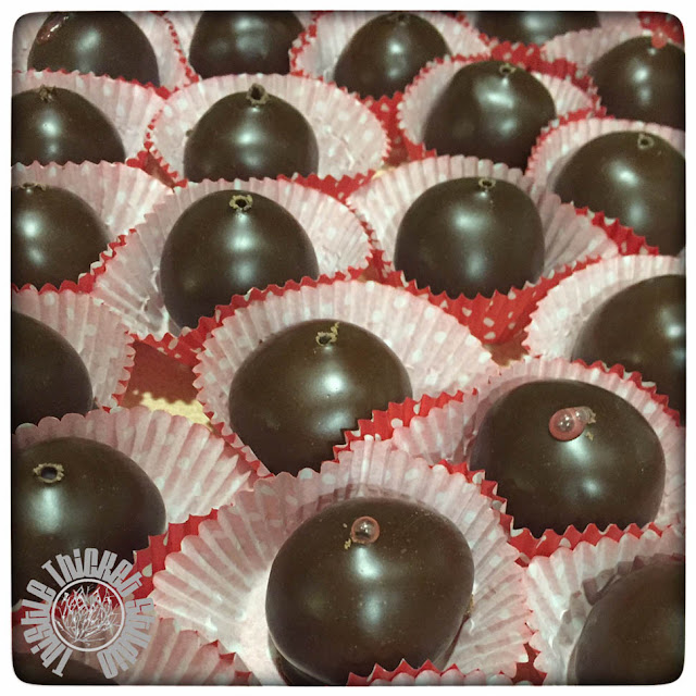 Thistle Thicket Studio, chocolate covered cherries recipe, candy recipe, fondant, Christmas candy