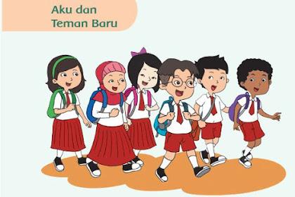 Download BUKU SISWA dan BUKU GURU SD Kurikulum 2013 Kelas 1 Semester 1 Tema 1, Tema 2, Tema 3, Tema 4