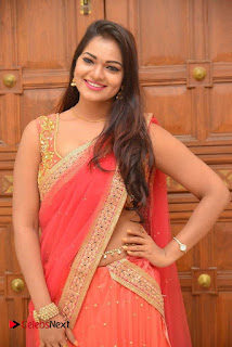 Ashwini Latest Pictures in Red Half Saree ~ Celebs Next