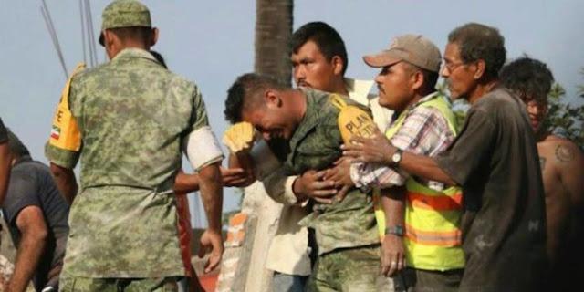 Esto es lo que se sabe de la supuesta muerte de Militar que lloro tras sismo en la CDMX por una emboscada