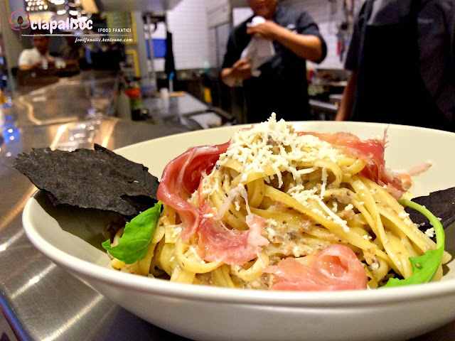 Mushroom Truffle Pasta with Parma Ham