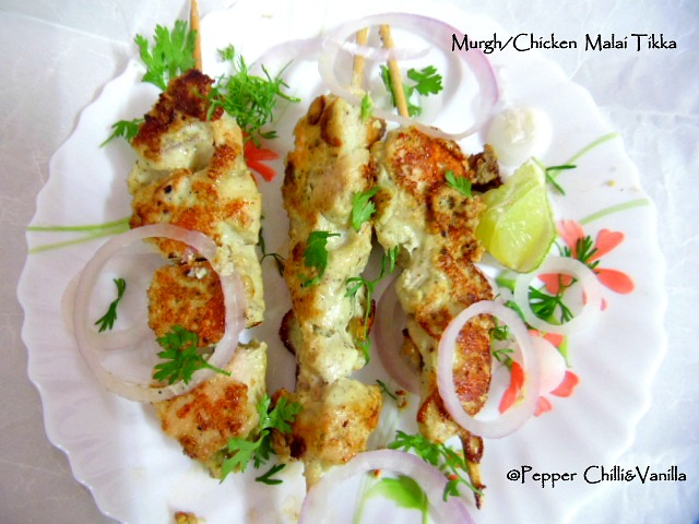 murgh malai kebab /chicken malai kabab ,how to make chicken malai tikka