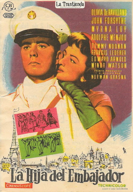 La Hija del Embajador - Programa de Mano - Olivia de Havilland - John Forsythe - Myrna Loy