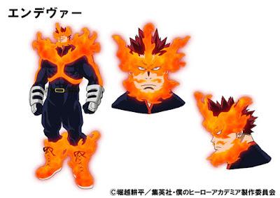 Endeavor es el héroe más poderoso tras All Might, y padre de Shoto Todoroki.