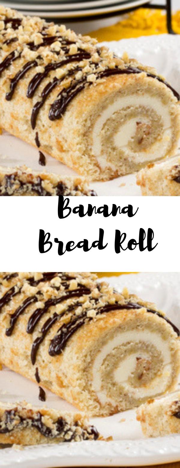 Banana Bread Roll #DESSERT #ROLL #BREAD #CAKE