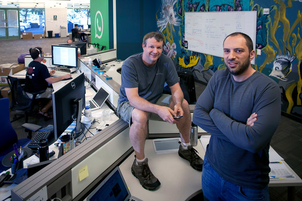 WhatsApp Co-founder Brian Acton and Jan Koum left the company