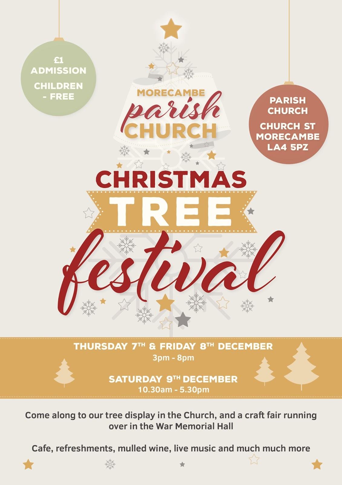 Christmas Craft Show Flyer.Morecambe Churches Forum Christmas Tree Festival And Craft Fair